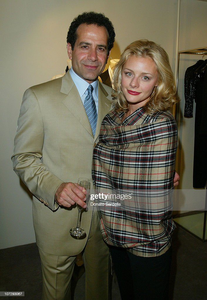 Tony Shalhoub and Jessica Cauffiel during Cerruti and David Cardona Co-Host Private Party to Celebrate the Opening of Cerruti Beverly Hills Benefiting OPCC at Cerruti Store in Beverly Hills, California, United States.