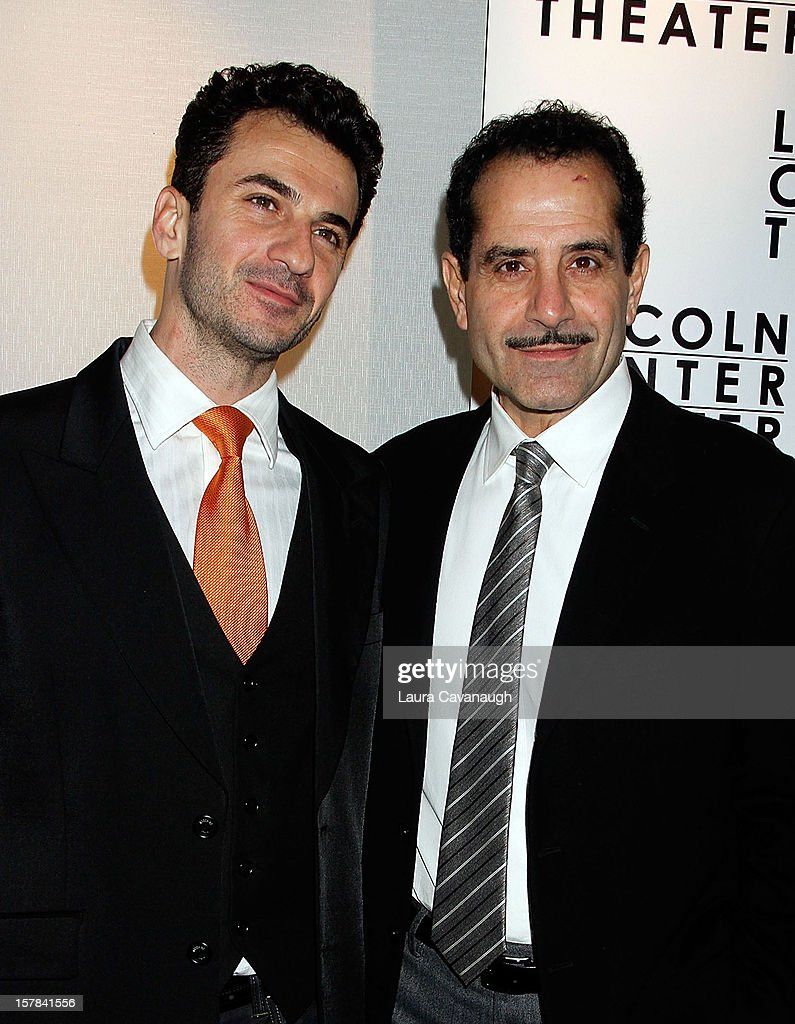 <a gi-track='captionPersonalityLinkClicked' href=/galleries/search?phrase=Tony+Shalhoub&family=editorial&specificpeople=203214 ng-click='$event.stopPropagation()'>Tony Shalhoub</a> and Michael Aronov attend 'Golden Boy' Opening Night Party at Millennium Broadway Hotel on December 6, 2012 in New York City.