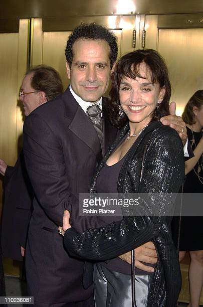 Tony Shalhoub and wife Brooke Adams during 59th Annual Tony Awards Outside Arrivals at Radio City Music Hall in New York City New York United States