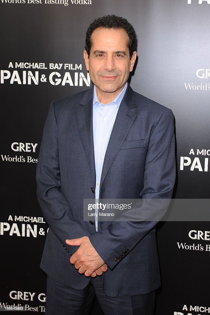 Tony Shalhoub attends the 'Pain & Gain' premiere on April 11, 2013 in Miami Beach, Florida.