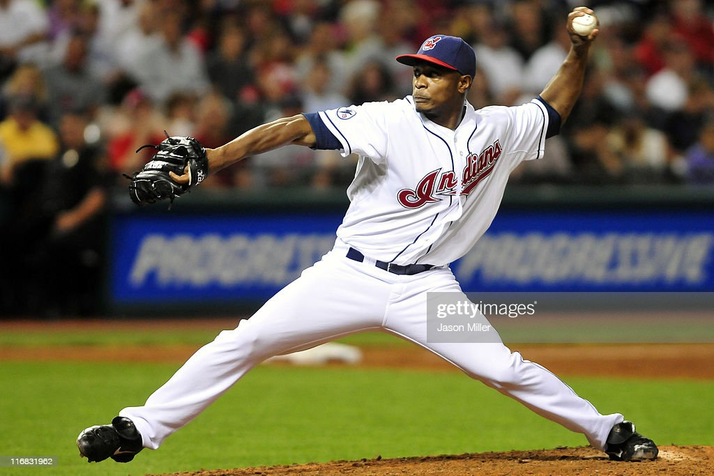 Tony Sipp #46 of the Cleveland Indians pitches during the ninth inning against the Pittsburgh Pirates at Progressive Field on June 17, 2011 in Cleveland, Ohio. The Indians defeated the Pirates 5-1.