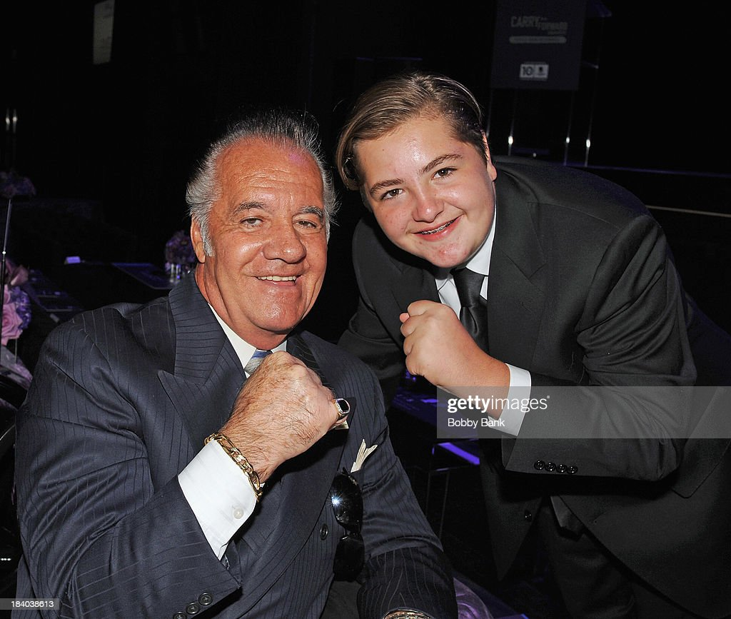 <a gi-track='captionPersonalityLinkClicked' href=/galleries/search?phrase=Tony+Sirico&family=editorial&specificpeople=218067 ng-click='$event.stopPropagation()'>Tony Sirico</a> and <a gi-track='captionPersonalityLinkClicked' href=/galleries/search?phrase=Michael+Gandolfini&family=editorial&specificpeople=2196017 ng-click='$event.stopPropagation()'>Michael Gandolfini</a> attends the Wounded Warrior Project Carry Foward Awards Arrivals at Club Nokia on October 10, 2013 in Los Angeles, California.
