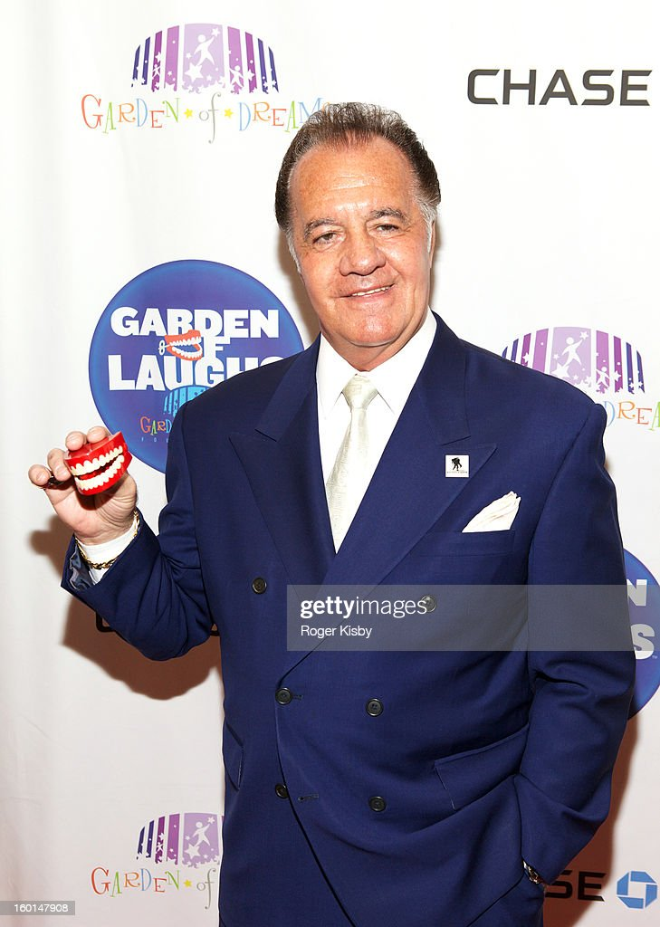 <a gi-track='captionPersonalityLinkClicked' href=/galleries/search?phrase=Tony+Sirico&family=editorial&specificpeople=218067 ng-click='$event.stopPropagation()'>Tony Sirico</a> attends 'Garden Of Laughs' benefit at Madison Square Garden on January 26, 2013 in New York City.