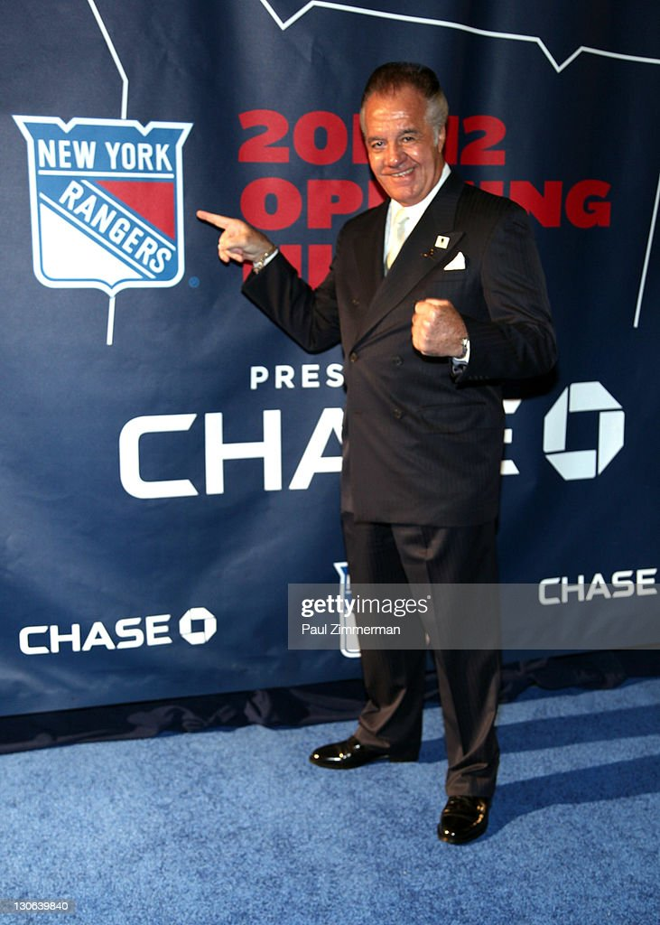 Tony Sirico attends the New York Rangers home opener at Madison Square Garden on October 27, 2011 in New York City.