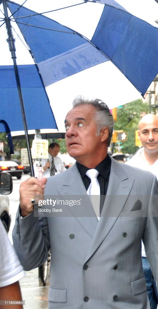 Tony Sirico on location for 'A Muppets Christmas: Letters to Santa' on September 9, 2008 in New York City.