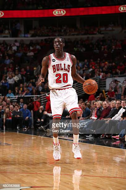 Tony Snell of the Chicago Bulls handles the ball against the Orlando Magic on April 14 2014 at the United Center in Chicago Illinois NOTE TO USER...