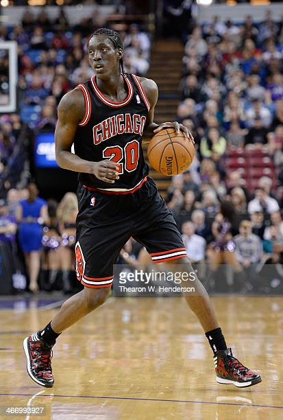 Tony Snell of the Chicago Bulls looks to dribbles the ball against the Sacramento Kings at Sleep Train Arena on February 3 2014 in Sacramento...