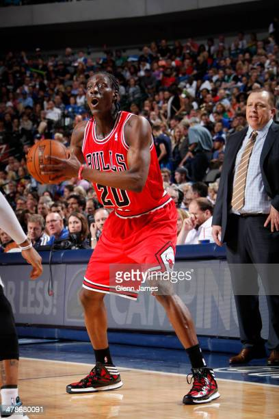 Tony Snell of the Chicago Bulls looks to make a play against the Dallas Mavericks on February 28 2014 at the American Airlines Center in Dallas Texas...