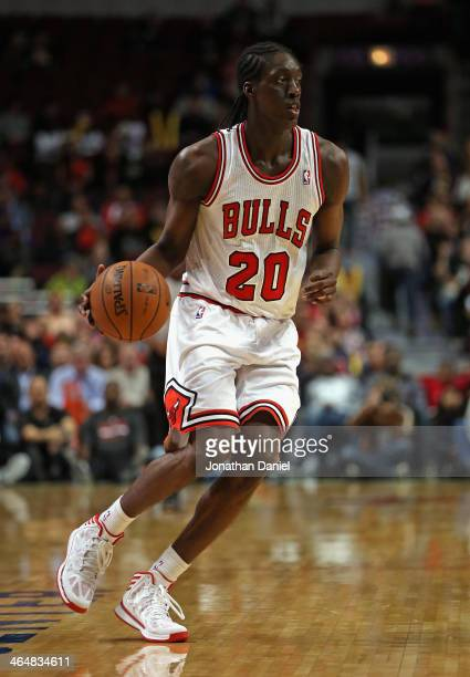 Tony Snell of the Chicago Bulls moves against the Milwuakee Bucks during a preseason game at the United Center on October 21 2013 in Chicago Illinois...