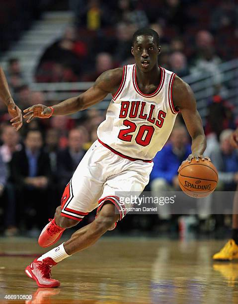 Tony Snell of the Chicago Bulls moves up the court against the Indiana Pacers at the United Center on March 18 2015 in Chicago Illinois The Bulls...