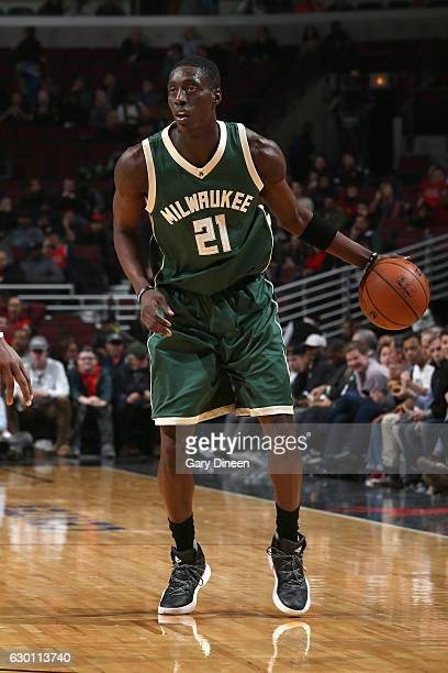 Tony Snell of the Milwaukee Bucks handles the ball against the Chicago Bulls on December 16 2016 at the United Center in Chicago Illinois NOTE TO...