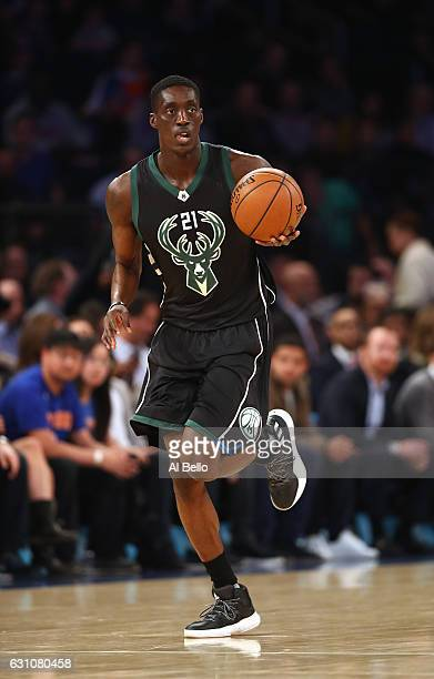 Tony Snell of the Milwaukee Bucks in action against the New York Knicks during their game at Madison Square Garden on January 4 2017 in New York City...