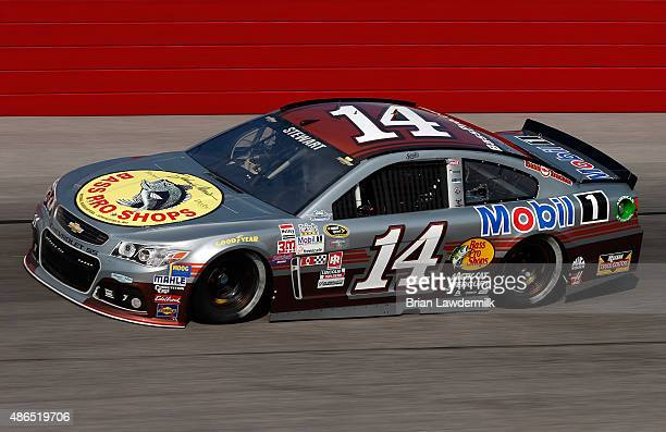 Tony Stewart driver of the Bass Pro Shops/Mobil 1 Chevrolet practices for the NASCAR Sprint Cup Series Bojangles' Southern 500 at Darlington Raceway...