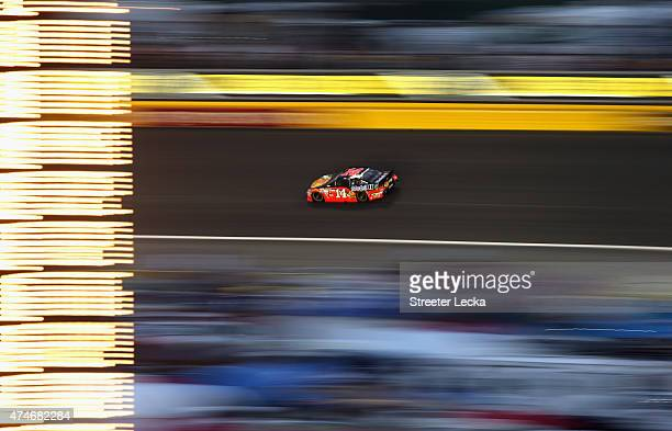 Tony Stewart driver of the Bass Pro Shops/Mobil 1 Chevrolet races during the NASCAR Sprint Cup Series CocaCola 600 at Charlotte Motor Speedway on May...