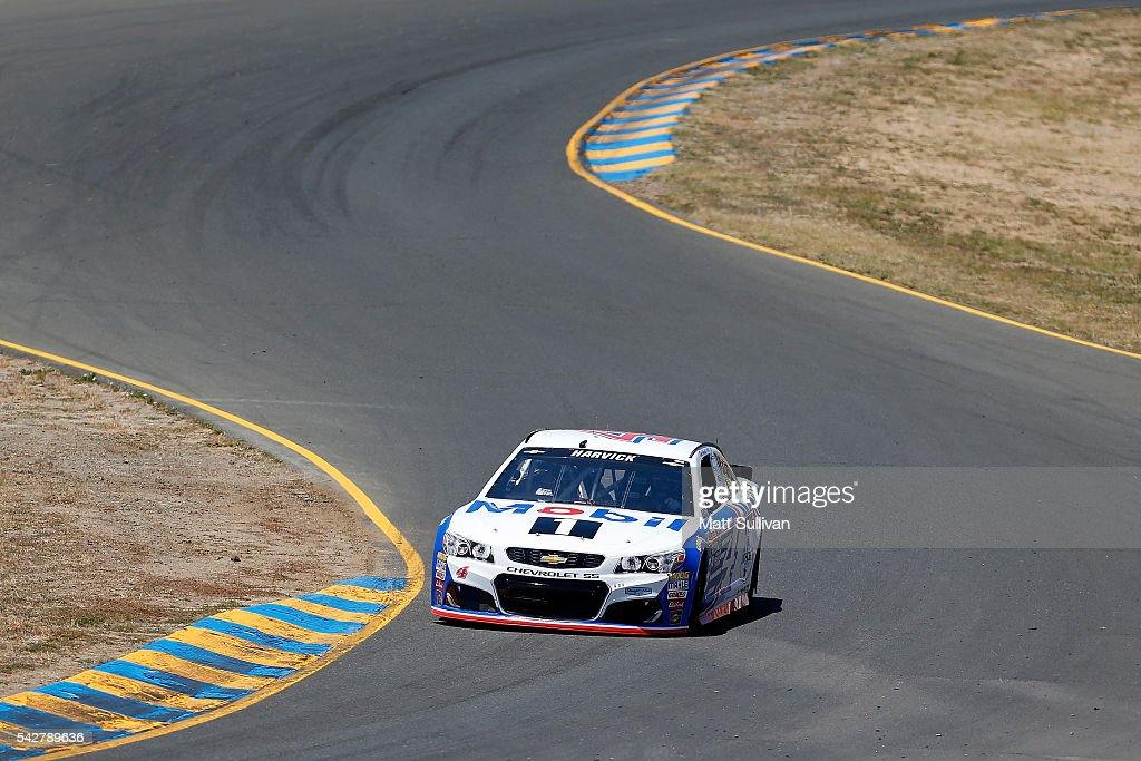 <a gi-track='captionPersonalityLinkClicked' href=/galleries/search?phrase=Tony+Stewart+-+Race+Car+Driver&family=editorial&specificpeople=201686 ng-click='$event.stopPropagation()'>Tony Stewart</a>, driver of the #14 Code 3 Assoc/Mobil 1 Chevrolet, drives during practice for the NASCAR Sprint Cup Series Toyota/Save Mart 350 at Sonoma Raceway on June 24, 2016 in Sonoma, California.