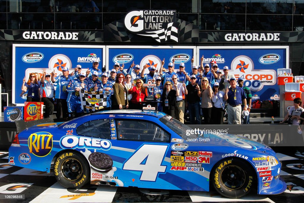 driver of the 4 oreo ritz chevrolet celebrates in victory lane. Cars Review. Best American Auto & Cars Review