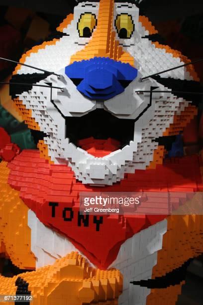 Tony Tiger made out of Lego bricks at Kellogg's Cereal City
