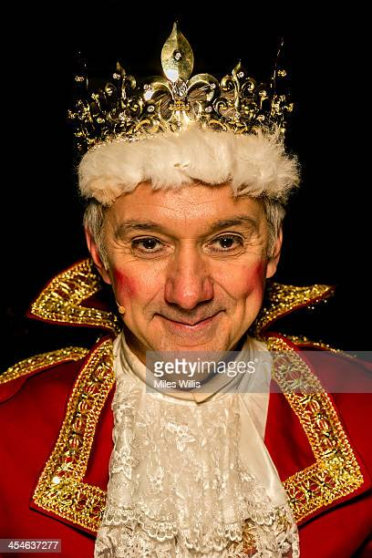 Tony Timberlake playing 'King' poses for a portrait during the Puss in Boots pantomime at the Hackney Empire on December 6 2013 in London England
