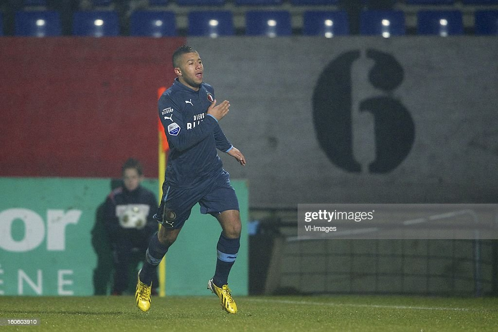 Tony Vilhena of Feyenoord during the Dutch Eredivisie match between Willem II and Feyenoord at the Koning Willem II Stadium on february 3, 2013 in Tilburg, The Netherlands