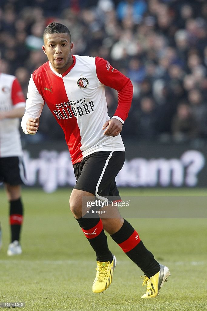 Tony Vilhena of Feyenoord during the Dutch Eredivisie match between Feyenoord and AZ Alkmaar at stadium De Kuip on february 10, 2013 in Rotterdam, The Netherlands