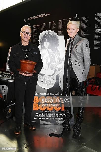 Tony Visconti and Daphne Guinness attend a special screening of the motion picture 'Born to Boogie' to celebrate the films release on bluray at BFI...