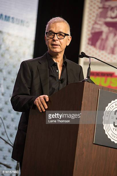 Tony Visconti delivers his keynote speech at Austin Convention Center on March 17 2016 in Austin Texas