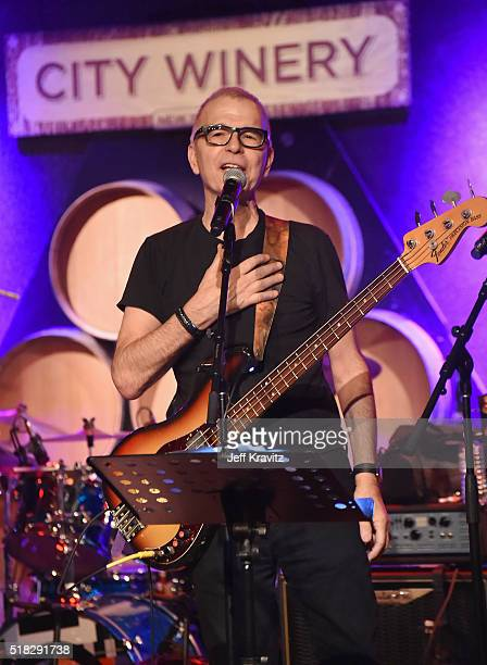 Tony Visconti performs with Holy Holy onstage at Michael Dorf Presents The Music of David Bowie Rehearsal Show at City Winery on March 30 2016 in New...
