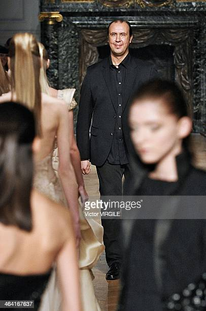 Tony Ward walks the runway during the Tony Ward show as part of Paris Fashion Week Haute Couture Spring/Summer 2014 on January 20 2014 in Paris France
