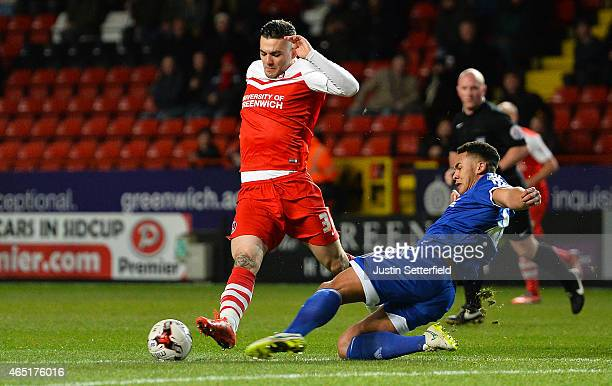 Tony Watt of Charlton Athletic during the Sky Bet Championship match between Charlton Athletic and Nottingham Forest at The Valley on March 3 2015 in...
