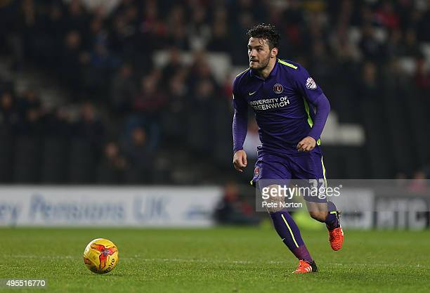 Tony Watt of Charlton Athletic in action during the Sky Bet Championship match between Milton Keynes Dons and Charlton Athletic at Stadium MK on...
