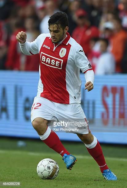Tony Watt of Liege in action during the Belgium Jupilar League match between Standard de Liege and Westerlo at Stade Maurice Dufrasne on August 23...