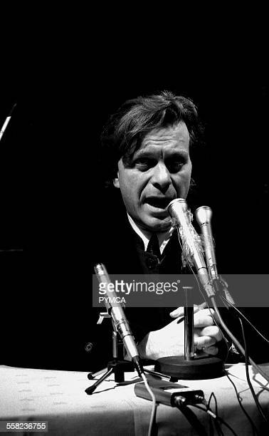 Tony Wilson announces the closure of the Hacienda due to problems with drug gangs guns and peoples safety at a press conference held in the Hacienda...