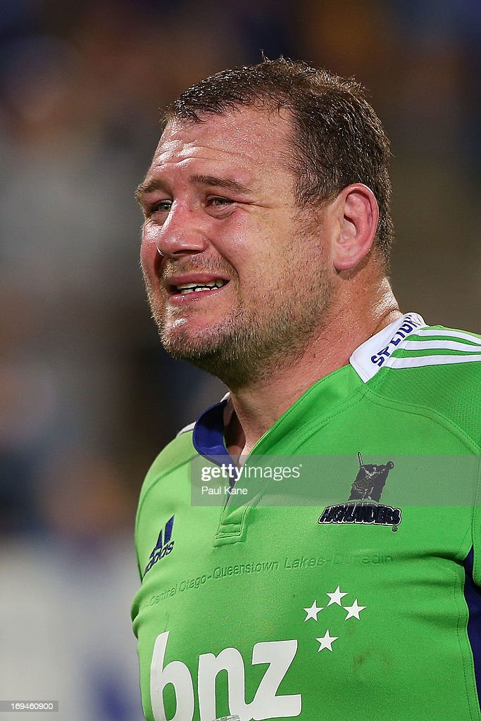 Tony Woodcock of the Highlanders looks on after being defeated during the round 15 Super Rugby match between the Western Force and the Highlanders at nib Stadium on May 25, 2013 in Perth, Australia.