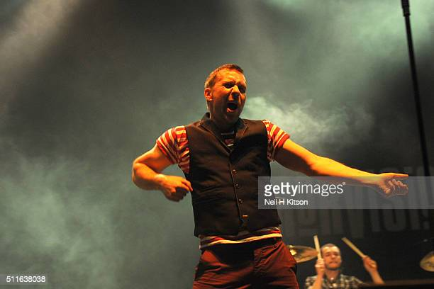 Tony Wright of Terrorvision Perform at Motorpoint Arena on February 19 2016 in Sheffield England