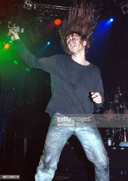 Tony Wright of Terrorvision performing on stage at The Forum Kentish Town London 03 April 1996