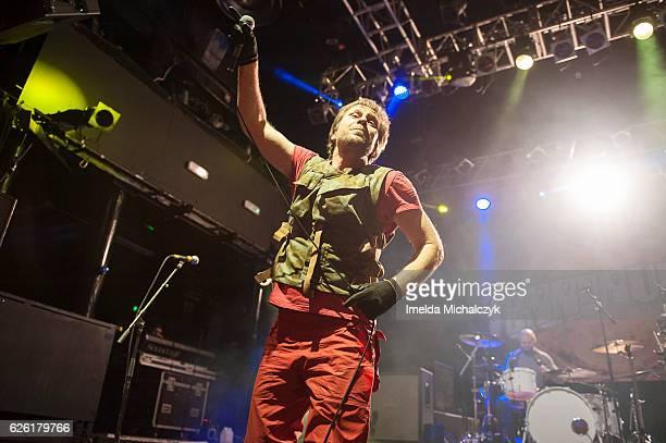 Tony Wright of Terrorvision performs at KOKO on November 27 2016 in London England