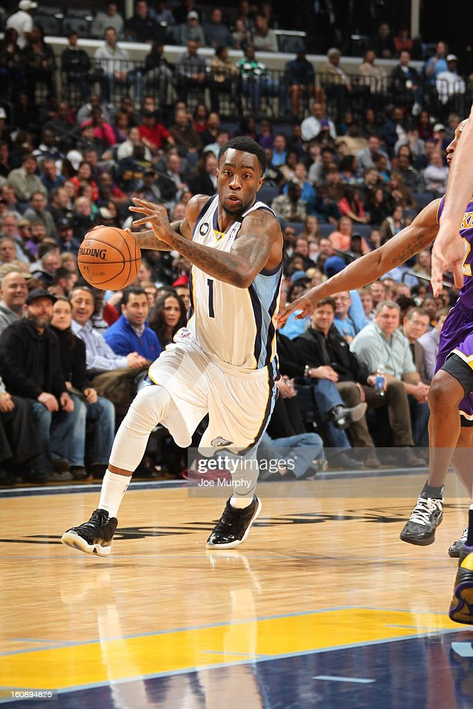 <a gi-track='captionPersonalityLinkClicked' href=/galleries/search?phrase=Tony+Wroten&family=editorial&specificpeople=7651920 ng-click='$event.stopPropagation()'>Tony Wroten</a> #1 of the Memphis Grizzlies drives to the basket against the Los Angeles Lakers on January 23, 2013 at FedExForum in Memphis, Tennessee.