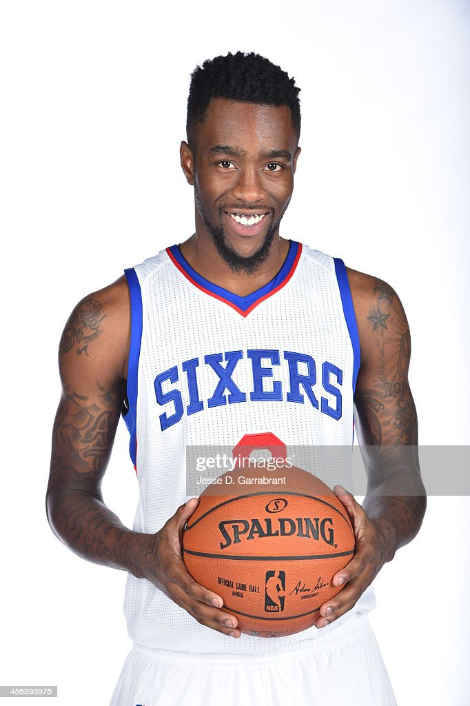 Tony Wroten of the Philadelphia 76ers during NBA Media Day on September 29 2014 at Wells Fargo Center in Philadelphia Pennsylvania NOTE TO USER User...