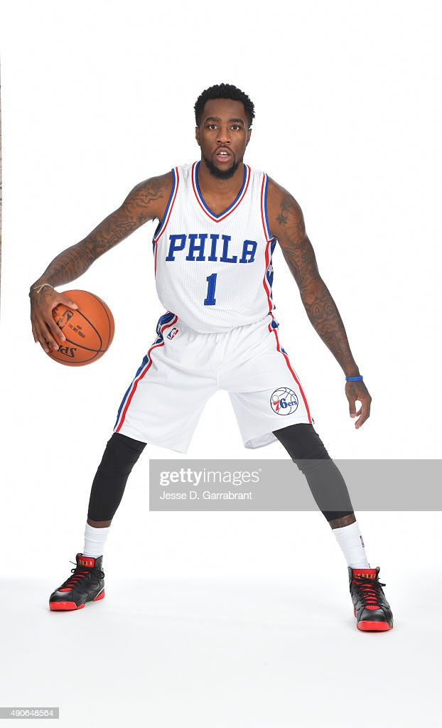 Tony Wroten of the Philadelphia 76ers poses for a photo during media day on September 28 2015 in Galloway New Jersey NOTE TO USER User expressly...