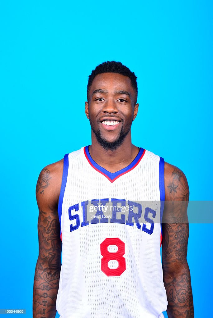 Tony Wroten of the Philadelphia 76ers poses for a portrait at 76ers Media Day on September 29 2014 at the Wells Fargo Center in Philadelphia...
