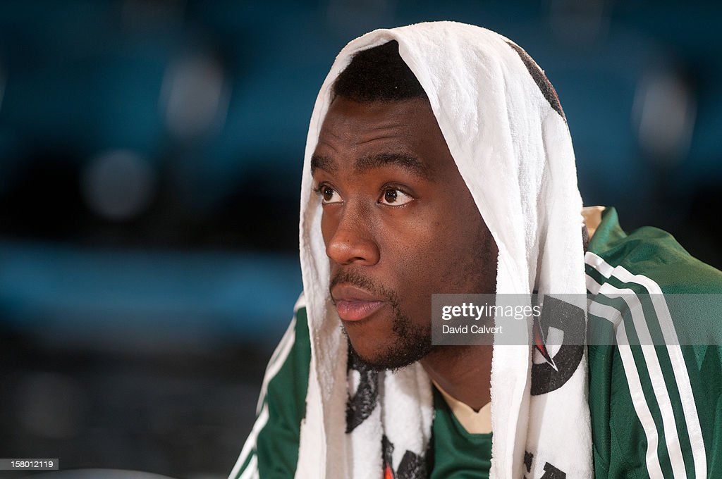 <a gi-track='captionPersonalityLinkClicked' href=/galleries/search?phrase=Tony+Wroten&family=editorial&specificpeople=7651920 ng-click='$event.stopPropagation()'>Tony Wroten</a> #14 of the Reno Bighorns on the bench before playing the Bakersfield Jam on December 7, 2012 at the Reno Events Center in Reno, Nev..