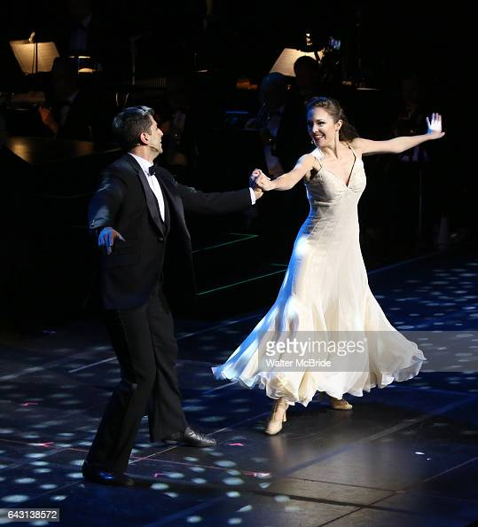 Tony Yazbeck and Laura Osnes during the Manhattan Concert Productions 25th Anniversary concert performance of 'Crazy for You' at David Geffen Hall...