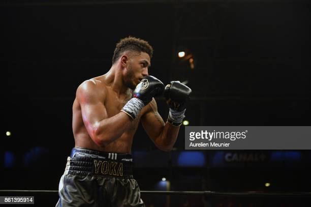 Tony Yoka of France in action during an international heavyweight boxing match against Jonathan Rice of The United States of America at Zenith on...