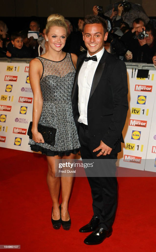 Tonya Couch and Tom Daley attends the Pride Of Britain awards at Grosvenor House, on October 29, 2012 in London, England.