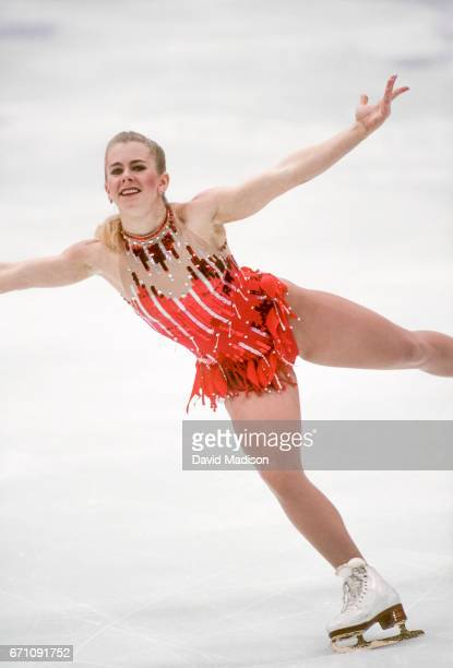 Tonya Harding of the USA competes in the Technical Program portion of the Women's Figure Skating competition of the 1994 Winter Olympics on February...