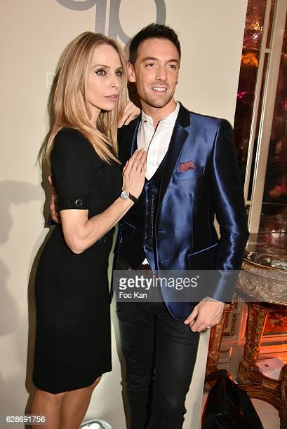Tonya Kinzinger and Maxime Dereymez attend Patrick Boffa 2017 Collection Fashion Show at Plaza Athenee on December 8 2016 in Paris France