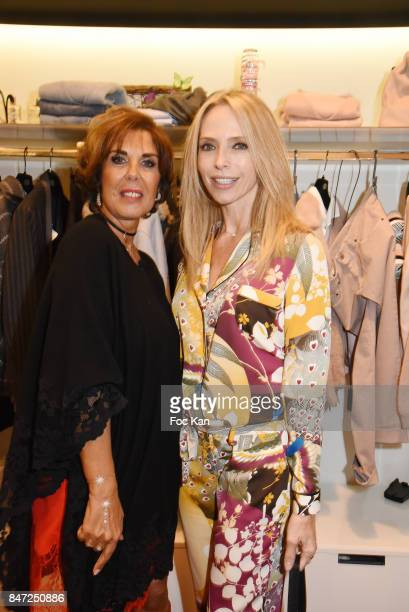 Tonya Kinzinger and Micha from Micha Shop attend the Micha Cocktail As part of 'La Fete Des Vendanges' At Avenue Montaigne on September 14 2017 in...