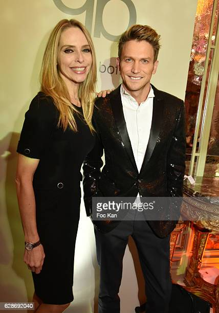 Tonya Kinzinger and Pierre Barbe attend Patrick Boffa 2017 Collection Fashion Show at Plaza Athenee on December 8 2016 in Paris France
