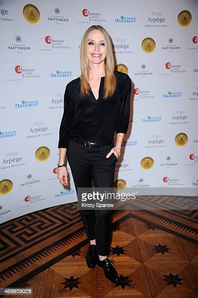 Tonya Kinzinger attends the 'Autistes Sans Frontiere' Charity Gala at Artcurial Dassault on April 16 2015 in Paris France