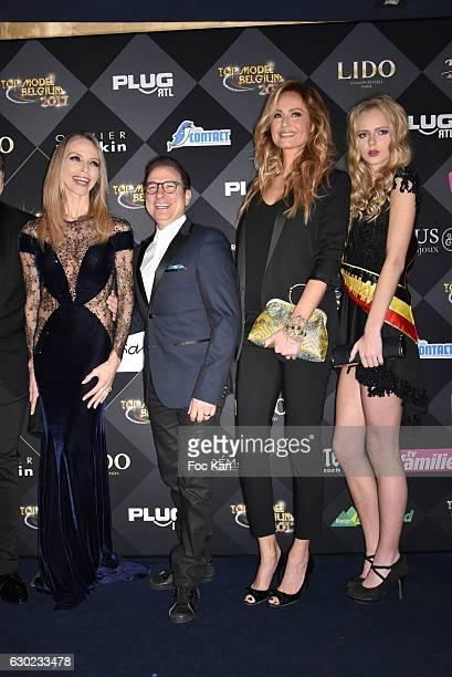 Tonya Kinzinger Jean Marc Genereux Adriana Karembeu attend the the the 'Top Model Belgium 2017' Ceremony at Le Lido on December 18 2016 in Paris...